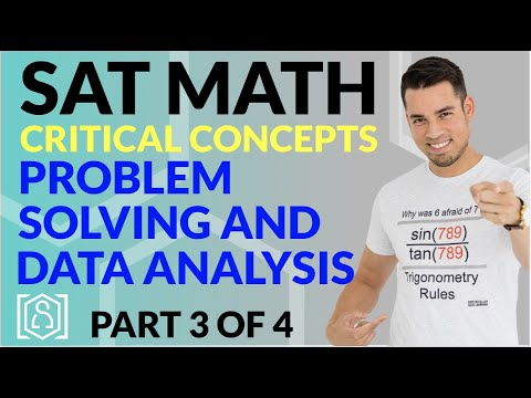 SAT Math: Critical Concepts for an 800 - Problem Solving and Data Analysis (Part 3 of 4)