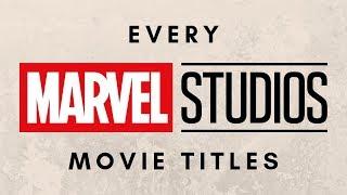 ALL MARVEL MOVIE LOGOS (2008-2019) MCU