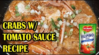HOW TO COOK CRABS | EASY CRAB RECIPE WITH TOMATO SAUCE