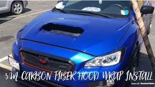 2017 WRX: 3M Carbon Fiber Vinyl Hood Wrap | Subaru WRX 2015 2016 2017 2018