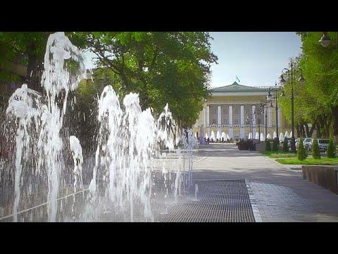 O renovado centro histórico de Almaty