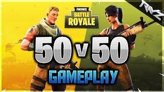 New Fortnite 50 vs 50 Gameplay! INSANE 50 vs 50 Mode Is LIVE NOW! (Fortnite Battle Royale)