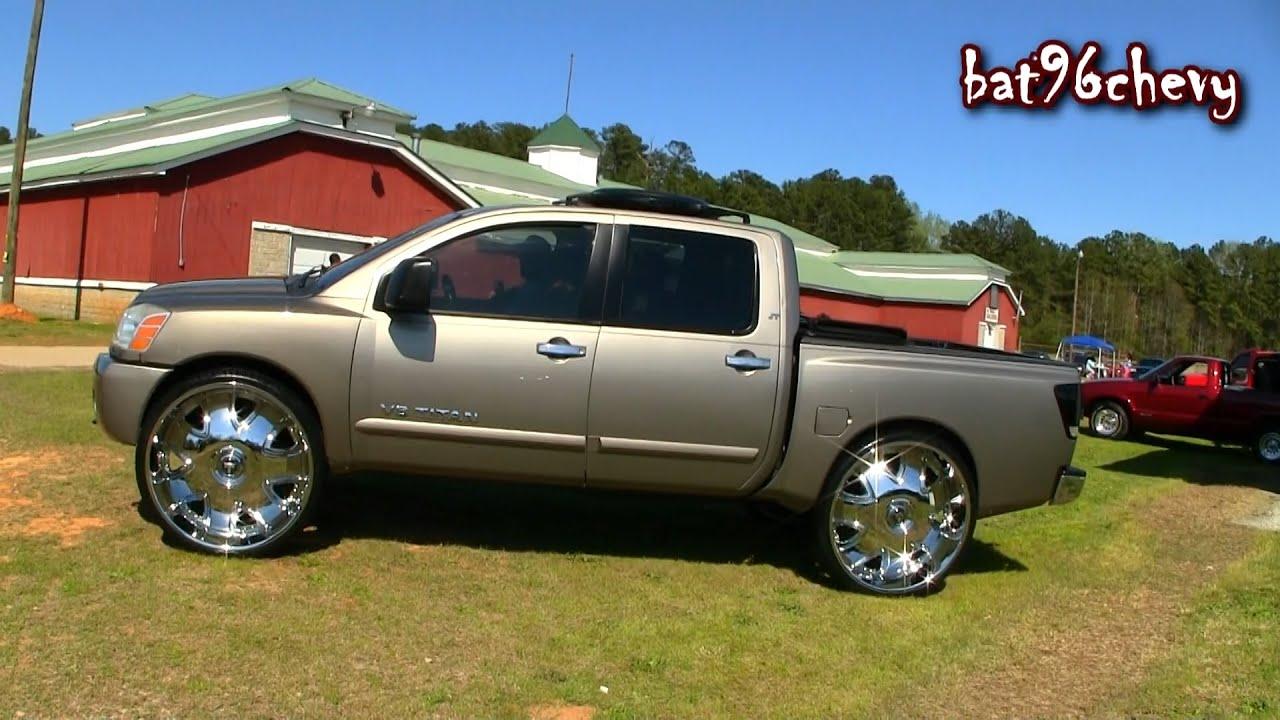 nissan titan truck on 32 dub bandito wheels 1080p hd youtube. Black Bedroom Furniture Sets. Home Design Ideas