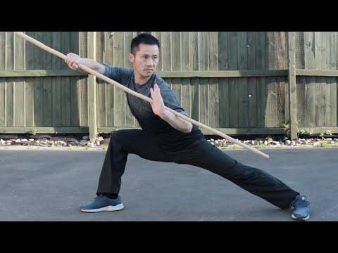 Shaolin Kung Fu Wushu Bo Staff Training Session 6
