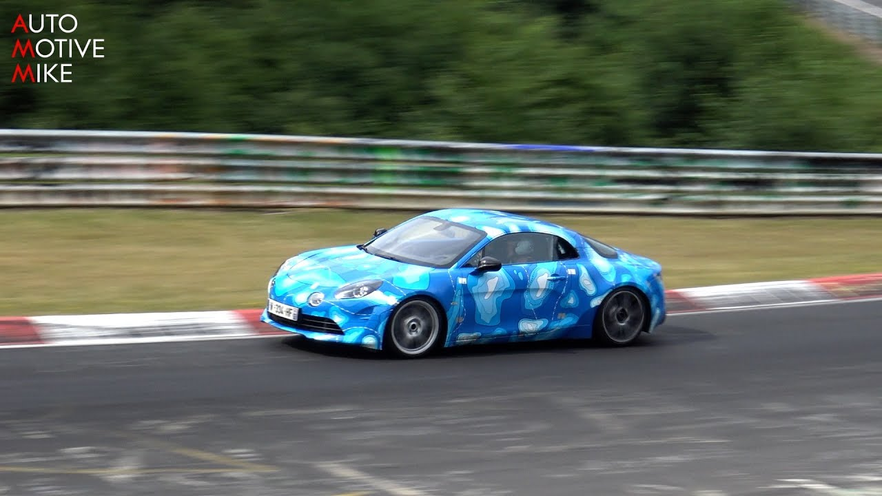 2018 alpine a110 spied testing at the n rburgring youtube. Black Bedroom Furniture Sets. Home Design Ideas