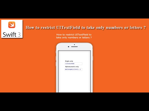 Swift 3 - How to restrict UITextField to take only numbers or