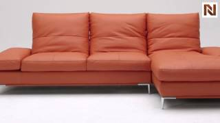 Dahlia (1307) Orange Sectional Sofa Set Vgkk1307o-p From Vig Furniture