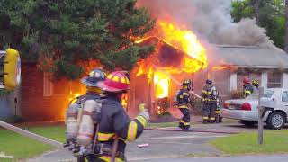 Hazel Drive in Warner Robins. Heavy Fire with a reported entrapment