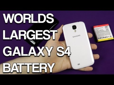 Worlds Largest Samsung Galaxy S4 Extended Battery - 6200mAh
