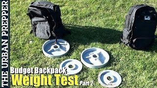 Budget B.o.b. Backpack: Weight Test (2/5) By Theurbanprepper