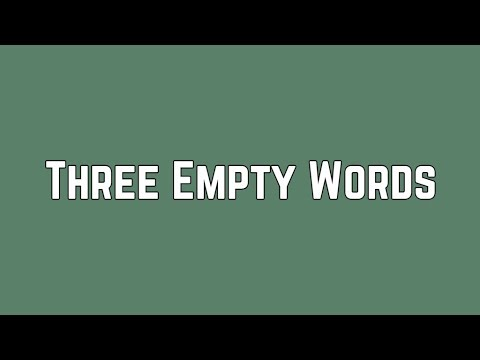 Shawn Mendes - Three Empty Words (Lyrics)