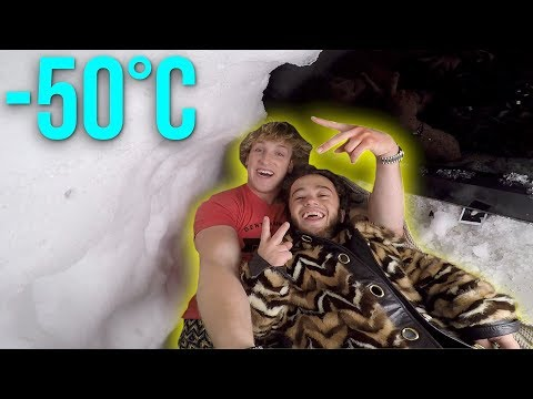 Download Youtube: LIVING INSIDE A HOMEMADE IGLOO! **snow fort**