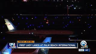Melania Trump lands at Palm Beach International Airport, sources say