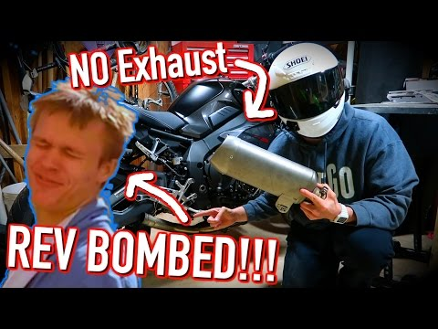 REV BOMBED LIKE A BOSS!!! / Riding without an exhaust / SO LOUD!! / Mini Joe #18