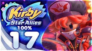 FLAMBERGE REMATCH! Kirby Star Allies - 100% Walkthrough: Far-Flung Starlight Heroes | Part 17!