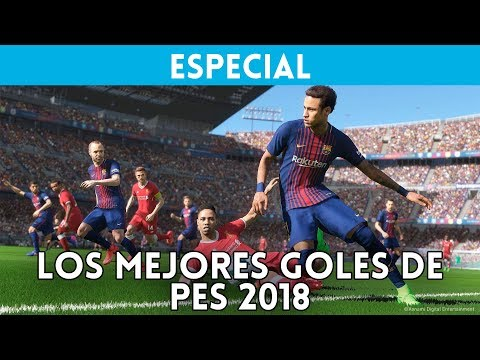 TOP 10: Los mejores GOLES de PES 2018 - RANKING PRO EVOLUTION SOCCER - ¿Messi o Cristiano Ronaldo?