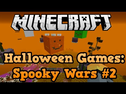Minecraft Xbox: Halloween Sky Wars Build #2 - With Texture Pack!