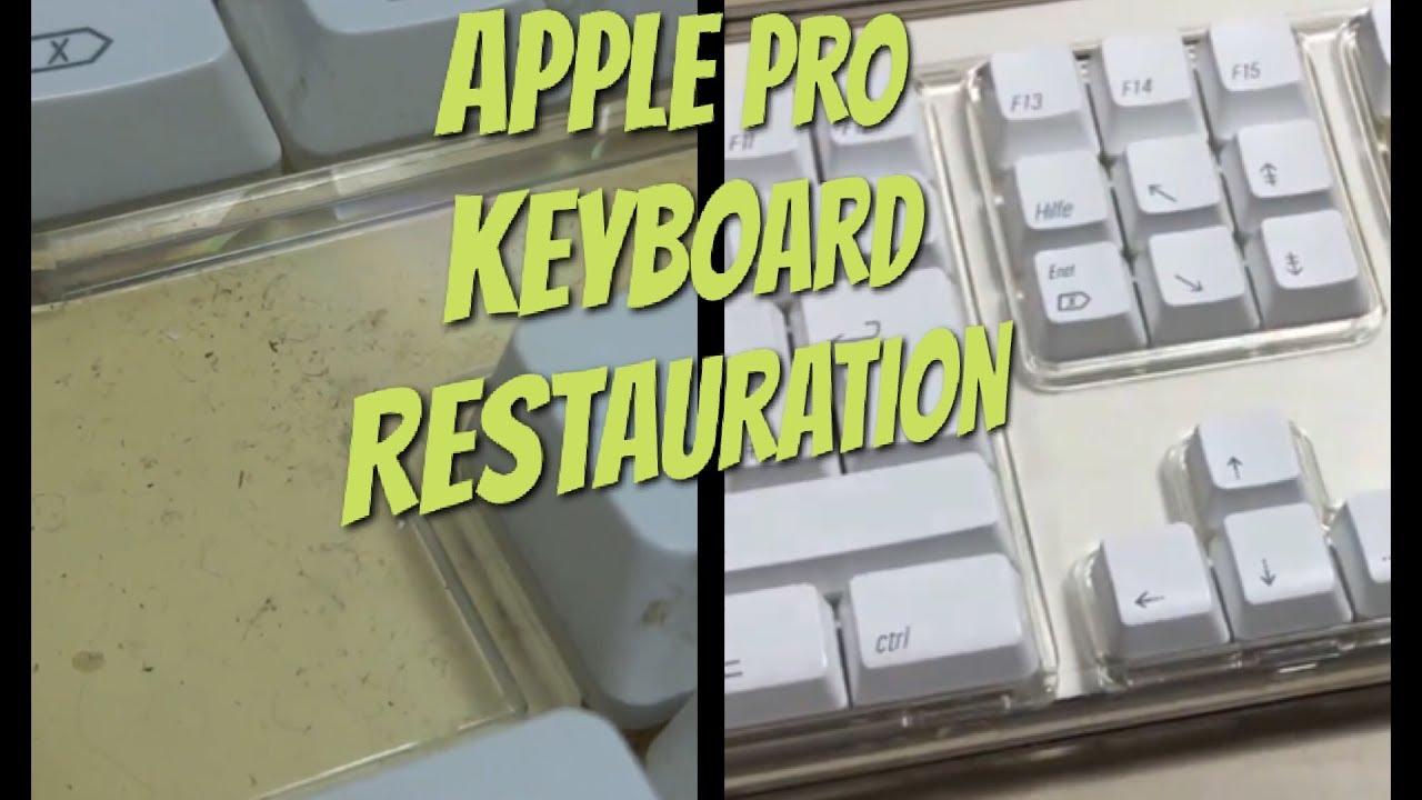 Apple Pro Keyboard Restauration Aus Gelb Wird Wieder Weiss