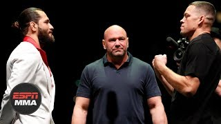 Jorge Masvidal and Nate Diaz UFC 244 pre-fight press conference | ESPN MMA