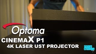 The TV Replacement? Optoma CinemaX P1 4K Laser Ultra Short Throw Projector Unboxing & Overview
