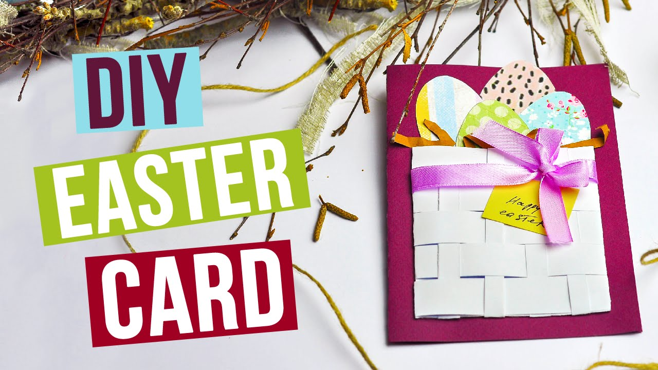 DIY Easter Card YouTube – Easter Cards