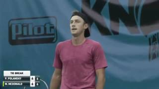 Tennis fail - Polansky loses the first set to an UNDERHAND server McDonald