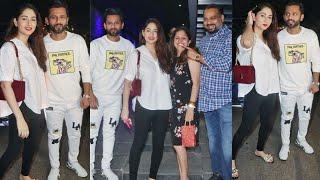 Rahul Vaidya with Girlfriend Disha Parmar Spotted at Hakkasan in Bandra Today.