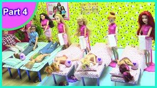 Barbie Miniature Spa Dollhouse [part 4]: Hot Rock Massage & Hatchimals Gifts | DOLL CRAFTS