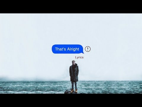 NF - That's Alright (Lyrics)