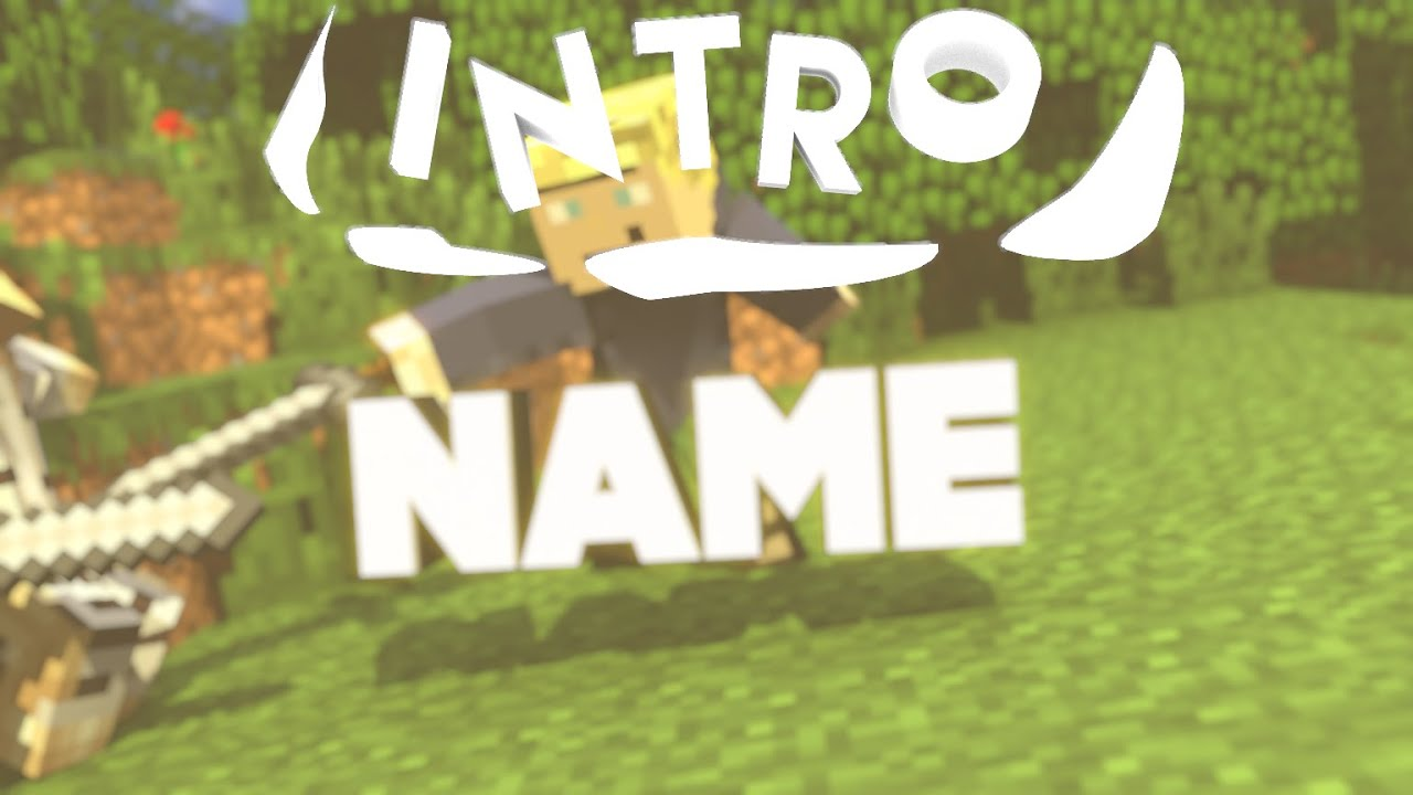 how to make a minecraft intro with blender