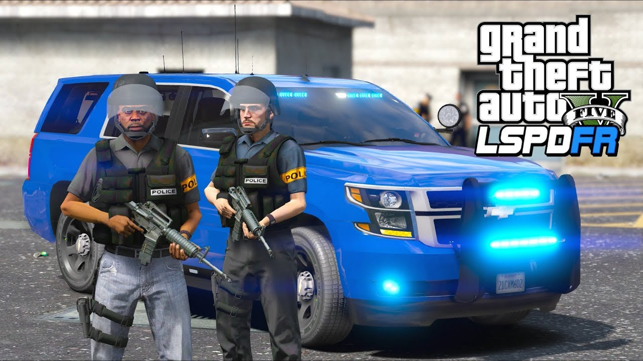 GTA 5 Mods - Most AWESOME Police Gang Unit!! (LSPDFR Gameplay)