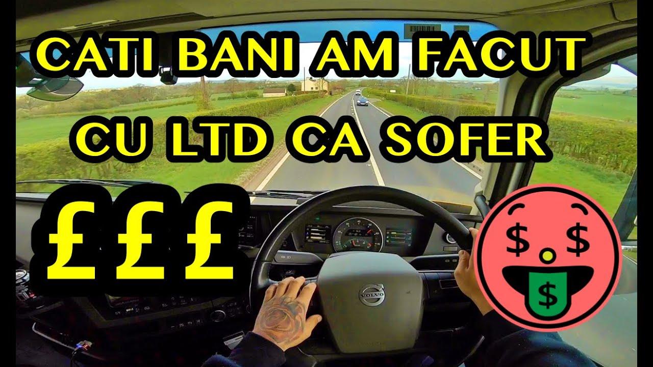 #truckereala321 - CATI BANI AM FACUT CU LTD CA SOFER IN UK