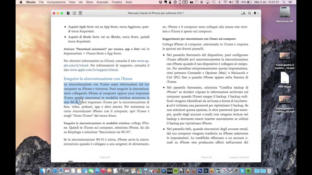 Come far leggere un libro/PDF al nostro Mac in iBooks - Noob's Corner Mac  #16