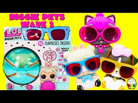 LOL Surprise BIGGIE PETS WAVE 2 Cotton Tail QT, Spicy Kitty, DJ K9