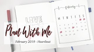 Plan With Me | February Heartbeat Bullet Journal Theme