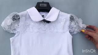 Школьная блузка для девочки Турция 684444. Обзор на брендовые детские вещи. Купить школьную блузку.