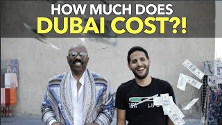 How Much Does Dubai Cost?! (Getting $2 meals with Steve Harvey)