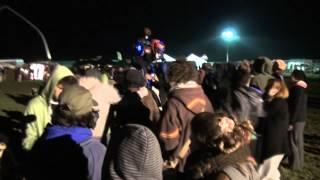 World Walker Tribes Gathering 2012 Belgium Techno Party Sound System 4 Legged Stiltwalker