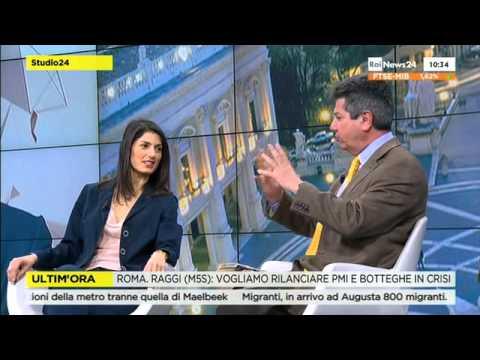Virginia Raggi a Rainews24 - candidata a sindaco di Roma