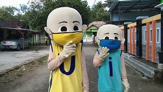 Jadi Perhatian Banyak Orang Upin & Ipin Badut Mengajak Pakai Masker Keliling RT Balonku & Tahu Bulat