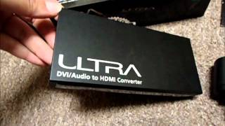 Ultra ULT40269 DVI+Optical/Coaxial Audio to HDMI converter