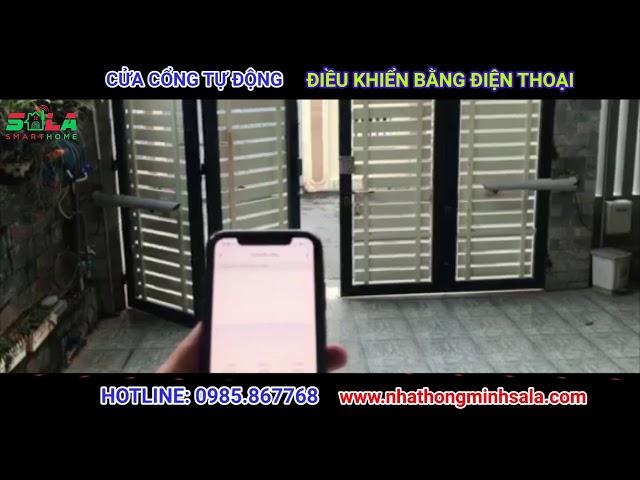 Cửa Cổng Tự Động Thông Minh | Giải pháp Nhà Thông Minh SALA