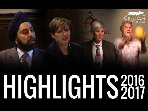 Highlights of 2016-17 at Gresham College
