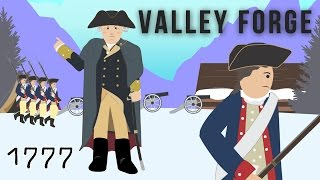 Valley Forge, 1777 (The American Revolution) cartoon