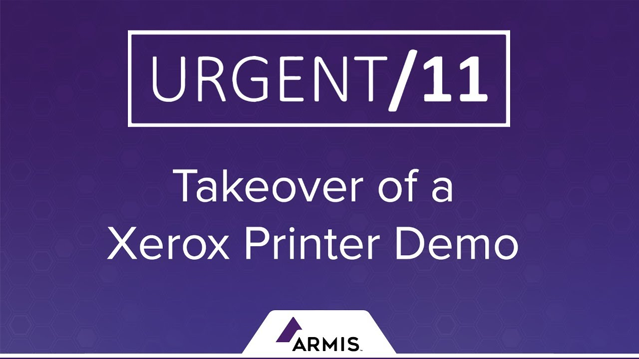 Urgent 11 Takeover Of A Xerox Printer Youtube