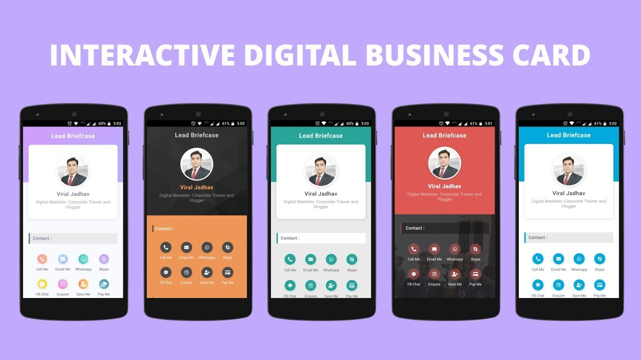 How To Create Digital Business Card