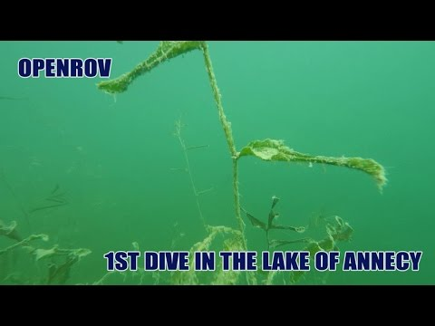 Openrov first dive in the lake of annecy