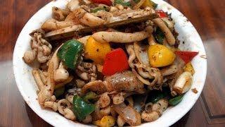 香港食譜 : 豉椒炒蟶子