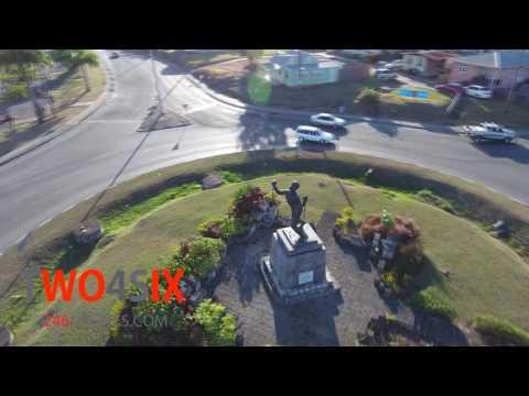 Bussa Emancipation Statue - Barbados Aerial Stock Video