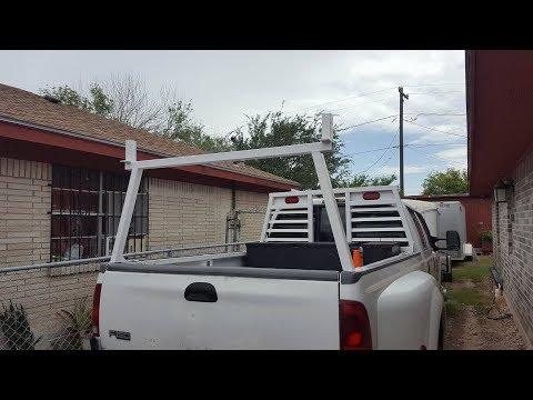 haciendo un rack para material para caja de camioneta